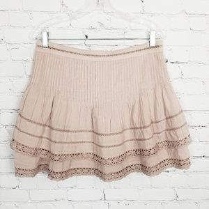 Free People|Blush Layered Mini Skirt